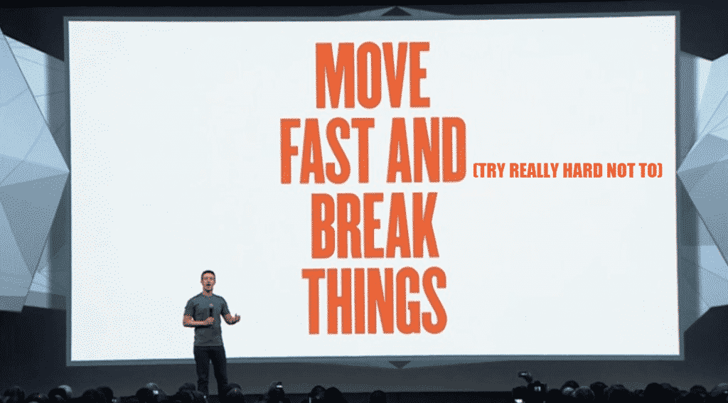 move fast (and try really hard not to) break things
